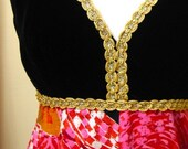 Vintage Maxi Dress ... for those unafraid of color part ONE