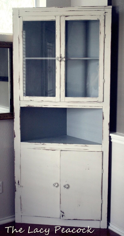 Vintage Corner Cabinet 74