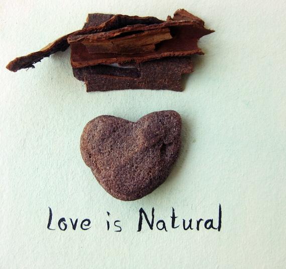 Genuine Heart Sahpe rock - a natural heart shaped beach stone