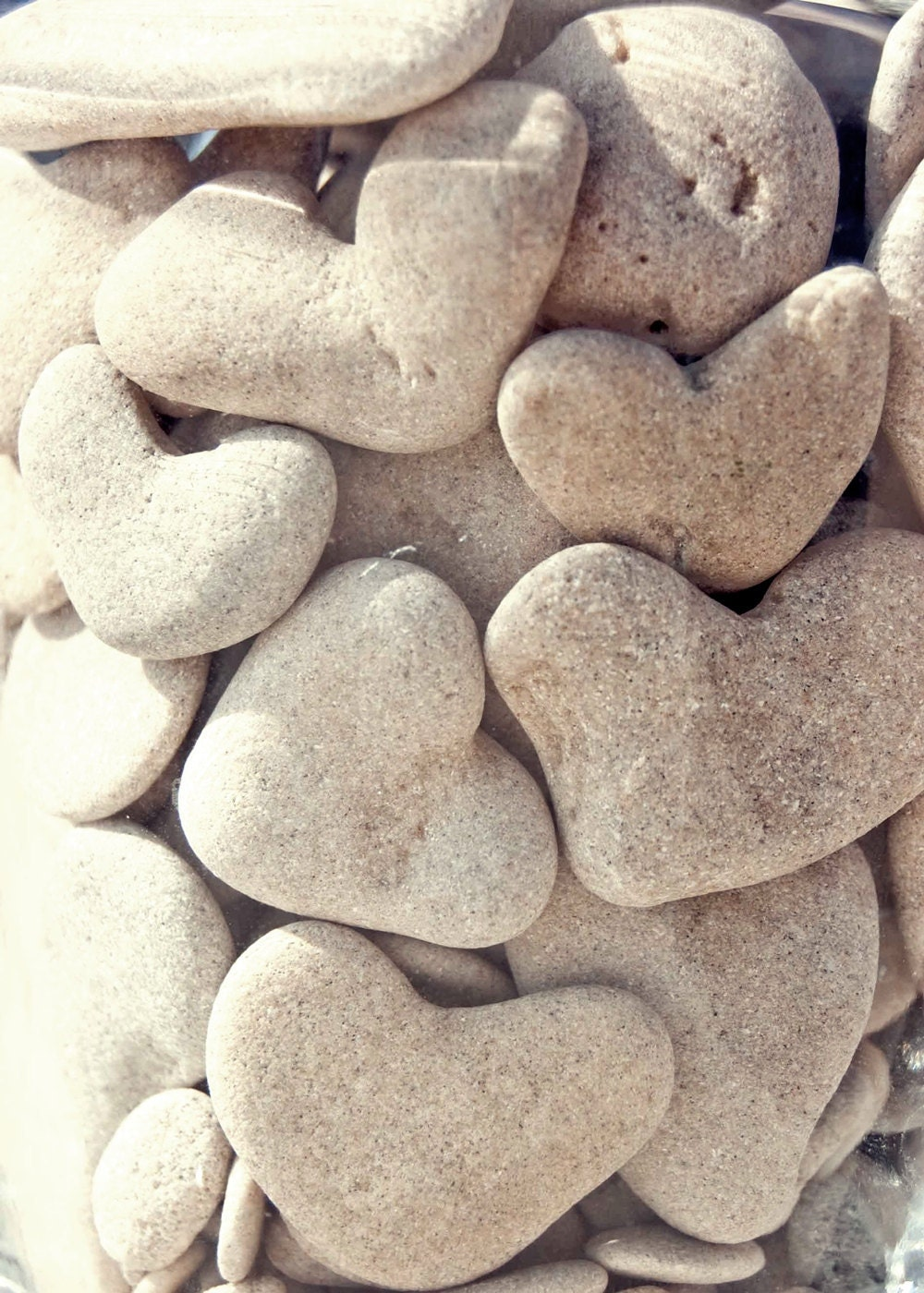 Natural heart shaped beach pebbles unique beach wedding for Decorative rocks for sale near me