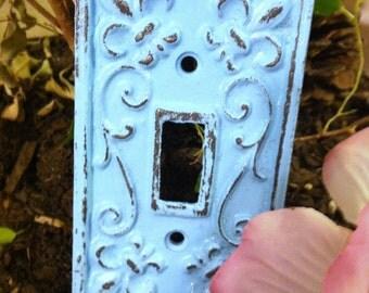 Cast Iron Light Switch Plate / Single Cast Iron Plate / Set of 2