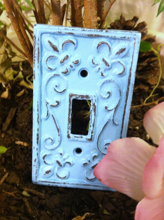 Cast Iron Light Switch Plate / Single Cast Iron Plate / Set of 2
