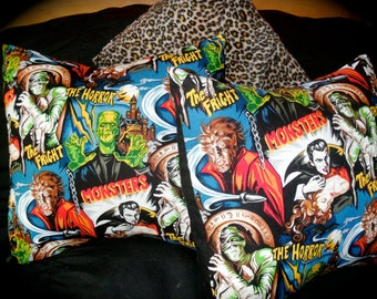 Monster movie pillow covers oh the horror