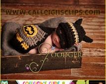 Instant Download Crochet Pattern - No. 21 - Batbaby and sidekick - Cuddle Cape Set