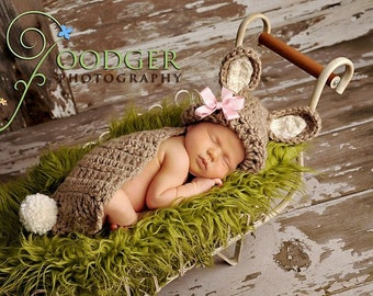 Bunny Rabbit- Cuddle Critter Cape Set  - Newborn Photography Prop