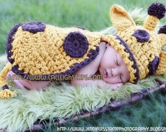 Goldie Giraffe Cuddle Critter Cape  Newborn Photography Prop