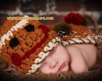 Gingerbread boy or girl Cuddle Critter Cape Set  Newborn Photography Prop