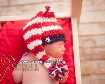 Stars and Stripes Stocking Cap