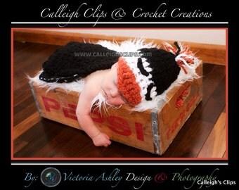 Puddles The Penguin Cuddle Critter Cape Set  Newborn Photography Prop