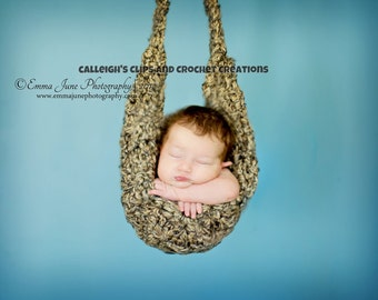 Crochet Hammock for Newborn Photography- Weathered Rock