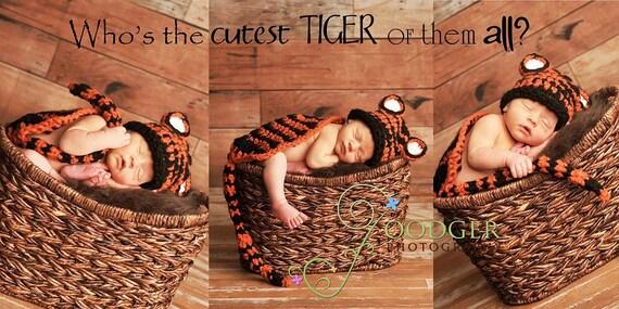 Tiger Cuddle Critter Cape Set Newborn Photography Prop