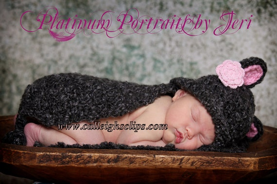 Lil' Mouse - Cuddle Critter Cape Set  - Newborn Photography Prop