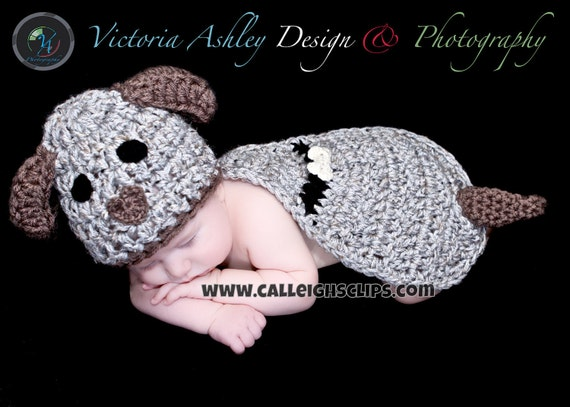Puppy Dog- Cuddle Cape Set  -Photography Prop