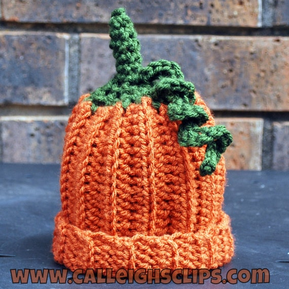 Lil' Orange Pumpkin Hat -
