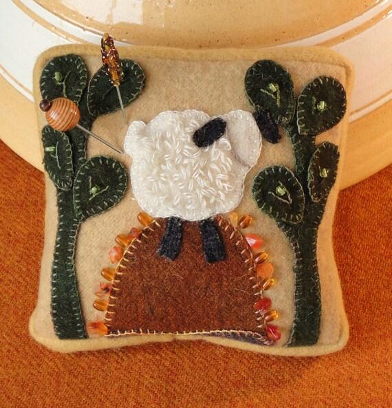 Rocky Mounntain, A Wool Embroidery Pincushion Pattern