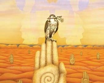 CREATIVITY - Peregrine Falcon Landscape