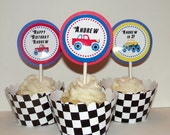 Personalized Monster Truck Cupcake Kit for Boys birthday party