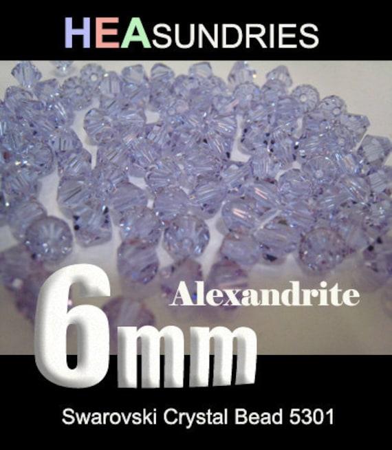 20 Swarovski Crystal Bead Bicone 5301 Alexandrite 6mm