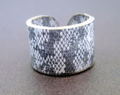 Plastic Ring - Snakeskin - Choose Your Size