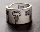 Skeleton Key Ring - Choose Your Size