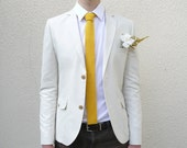 Yellow Knit Tie - MADE TO ORDER