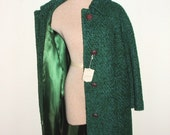 SALE Never Worn Aqua Wool Blend 60s Lady Coat