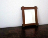 Vintage Wall Mirror Wood Frame Square - Rustic - Shabby - Distressed