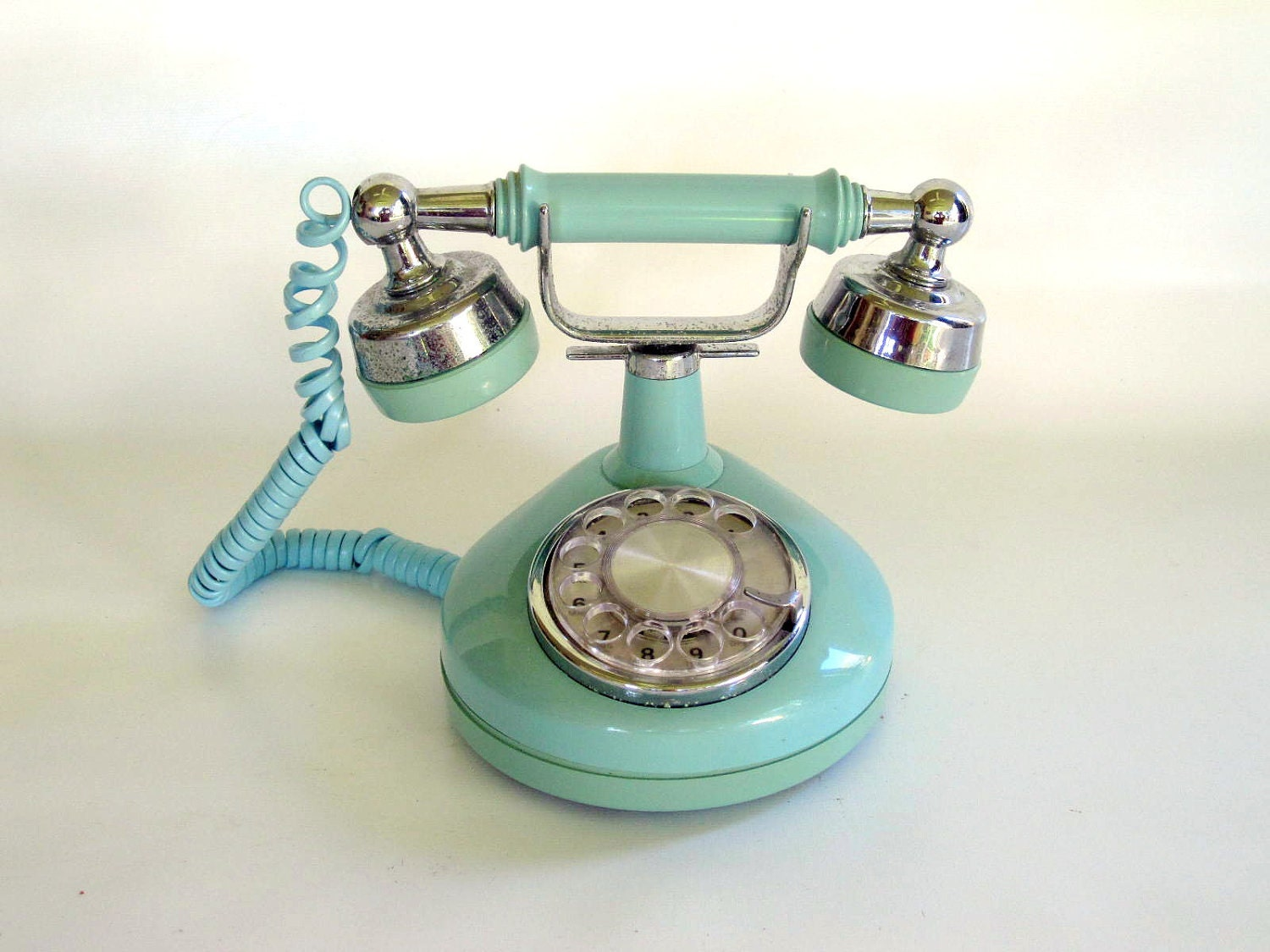 vintage blue rotary phone french style princess phone. Black Bedroom Furniture Sets. Home Design Ideas