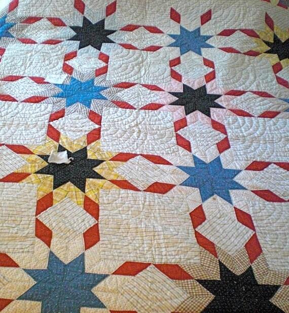 RESERVED FOR SANDY Antique Quilt - Needs some restorations