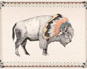 White Bison // A3 print