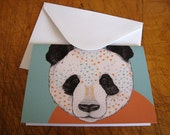 Polkadot Panda // Greeting Card