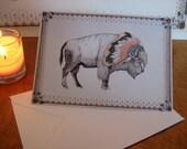 White Bison // Greeting Card