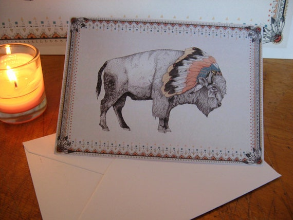 White Bison // Greeting Card