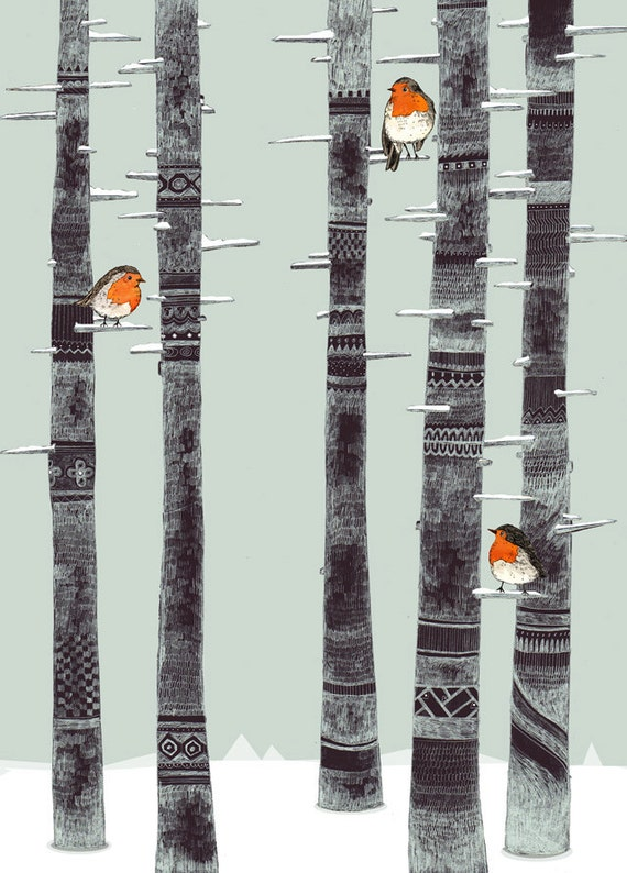 Robin Trees // Signed A4 print