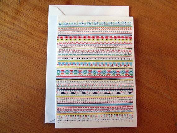 Pattern No.2 // Greeting Card