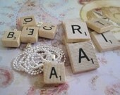 Private Listing For Karen Berg Mini Scrabble Tile Pendant Letters Comes With Bail Perfect For Shower Gift, Party Gift