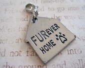 Forever FURever Home  Silver House Shaped Pet Charm with Lobster Clasp for Collar or Keychain