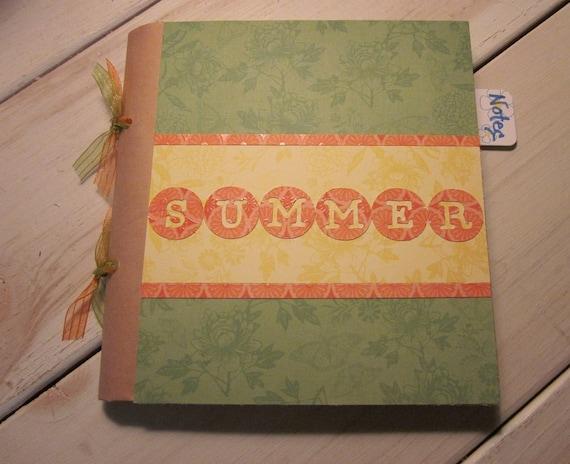 Summer Journal Smash Book Art Journal Diary