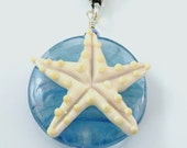 Handmade Lampwork Starfish Pendant by Mystic Moon Beads SRA U5