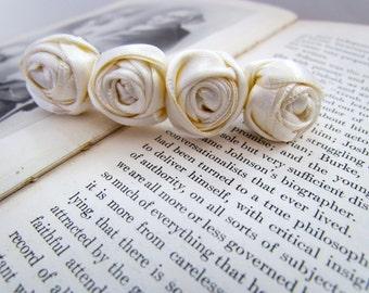 Cream Rosette Hair Clip | Ivory Rosette Barrette