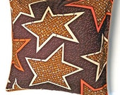 African Wax Print Pillow Cover (Assane Natural)