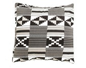 African Wax Print Pillow Cover (Ewe Black)