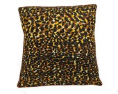African Wax Print Pillow Cover (Rafiki Brown)