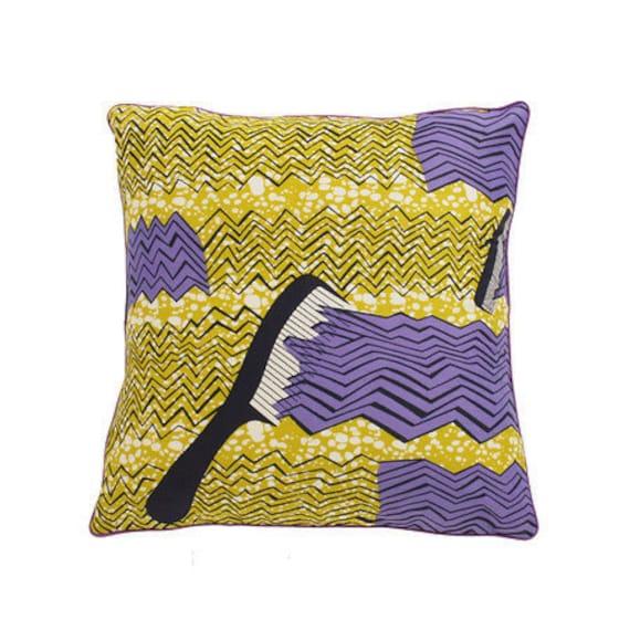 African Wax Print Pillow Cover (Raffy Natural)