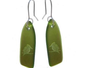 Recycled Glass Kookabura Earrings