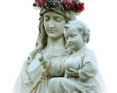 Virgin with Crown of Flowers and Child Jesus - multiple sizes