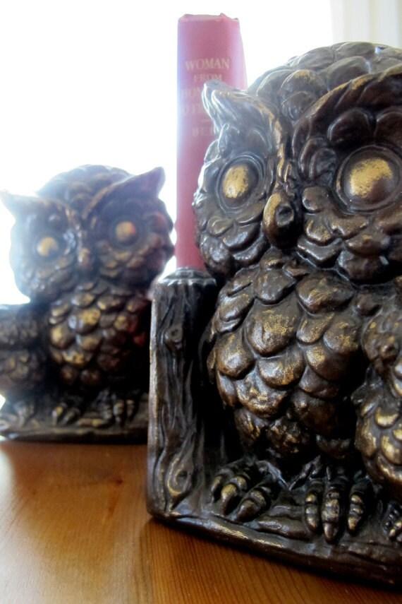 Vintage Owl Bookends