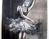 Ballerina monoprint, (3 of 4)