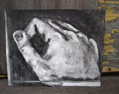 Lend a hand, monoprint (1 of 2)