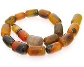 Charm Mixcolor Agate Beads Gemstsone Strand 18mm